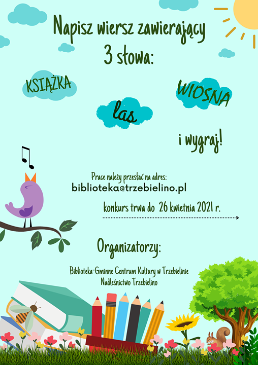 Plakat promujący konkurs pisarski