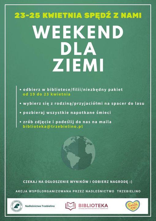Plakat promujący oczyszczanie świata
